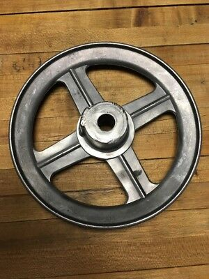"""Vintage  Cast aluminum  Well Pulley Gear Wheel Antique Industrial Steampunk 6"""""""