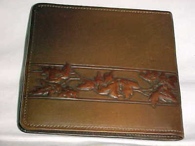1910-1920 American Arts Crafts Tooled Leather Wallet Remembrance Advertising Art