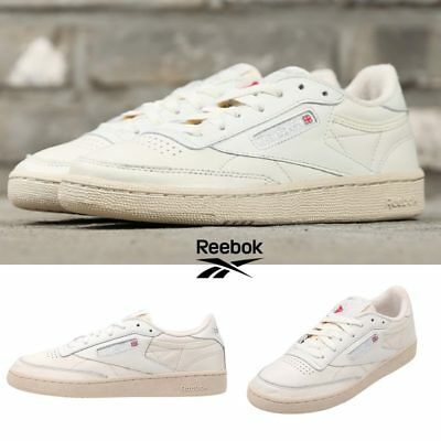 REEBOK CLASSIC CLUB C 85 Vintage Shoes Sneakers Ivory BS8243 SZ 5 12.5 Limited