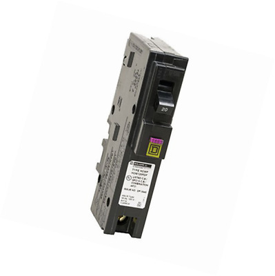 Square D by Schneider Electric HOM120PDFC Homeline Plug-On Neutral 20 Amp Single