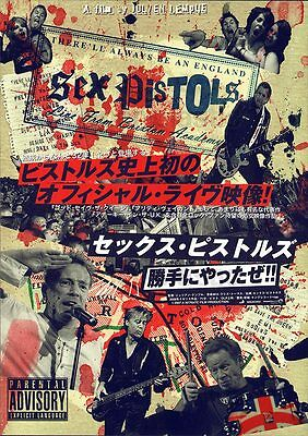 THERE'LL ALWAYS BE AN ENGLAND Sex Pistols Julien Temple punk movie flyer Japan