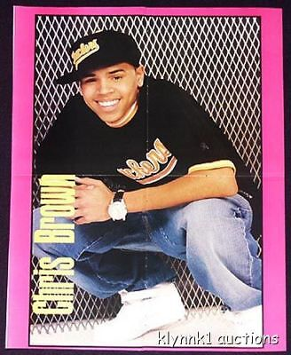 Chris Brown Poster Centerfold 555B Pretty Ricky is on the back