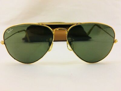 Vintage Ray-Ban Aviator Sunglasses 58014 Gold Tone Bausch & Lomb