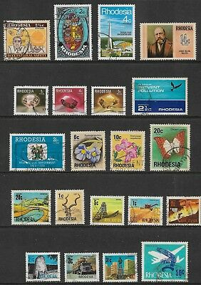 RHODESIA mixed collection No.5, decimal, used