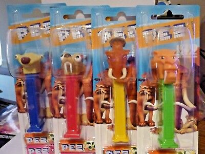 Pez Ice Age 2 The Meltdown Set of Four Sid, Diego, Manny and Scrat MOC