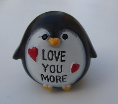 aa Love you more A PENGUIN KIND OF LOVE Stone figurine Ganz Valentine's day