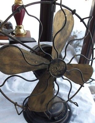 Antique Gilbert 12 Inch Oscillating Fan M1384 Parts or Restore