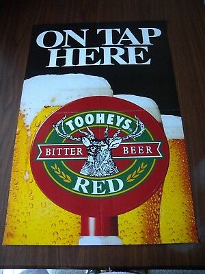 5 x Vintage Beer Rubgy Posters Tooheys Lion Red DB Draught Pub Bar Man Cave