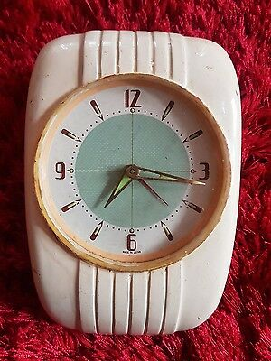 Vintage Art Deco style  wall clock. made in Japan