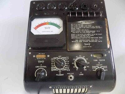 Very Rare Working Vintage 1940 Triplett Model 1621 Tube Tester For Early Tubes