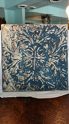 Antique Tin Ceiling Tile From Downtown St. Joseph, Mi 19.5 x 19.5