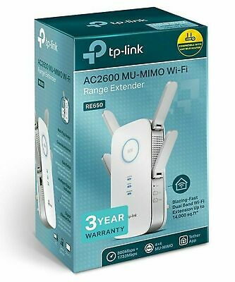 TP-LINK RE650 AC2600 Range Extender 2600Mbps 802.11ac Dual Band MU-MIMO