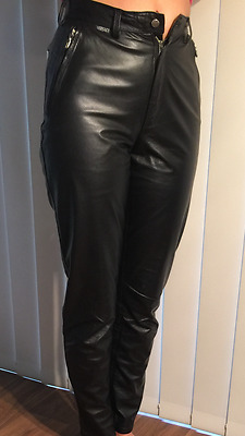 80% OFF VERSACE Classic Authentic Leather Pants Size S/ 12UK/ 6US