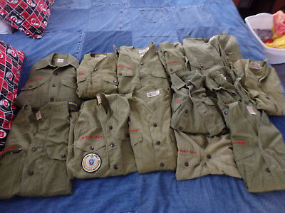 15 VINTAGE Official BOY SCOUT SHIRTS BSA Boy Scouts of America