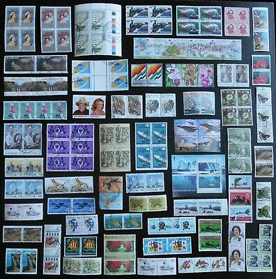 AUSTRALIA joined Pairs Strips Blocks, bulk lot No.16, decimal, used