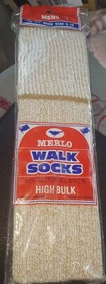 Vintage Men's Walk Socks: Merlo. Made in Australia.
