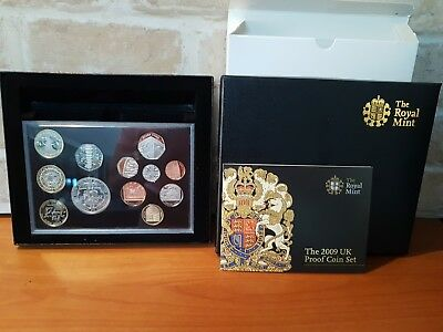 Royal Mint 2009 Uk Deluxe Proof Fine Coin Set. Inc Kew