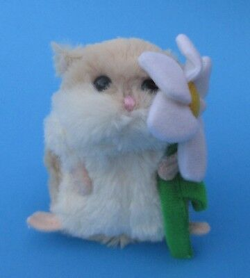 a Beige with white flower LIL HAMSTER Plush holding daisy Ganz I'm sorry