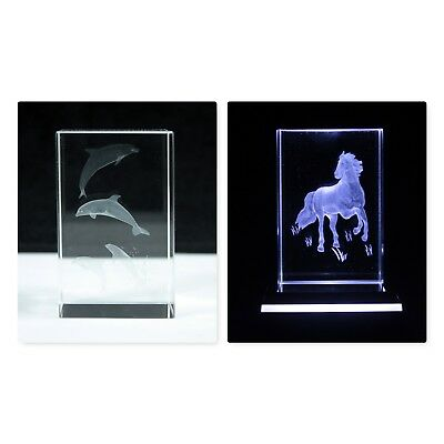 Laser Block Glass Crystal Ornaments, Animals, Buddhas, Marilyn