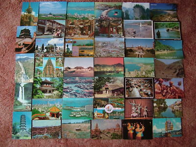 40 Used Postcards of ASIA.  Various Countries.  1970's onwards.