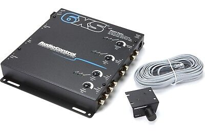 New AudioControl 6XS (Black) 6-Channel Electronic Crossover w/ Remote Bass Knob