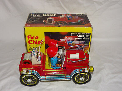 Blechspielzeug Fire Chief Me 699 - Made In China + Ovp