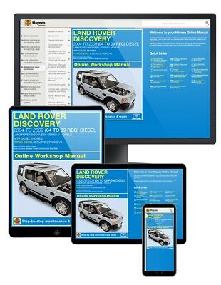 Land Rover Discovery Diesel (Aug 2004-Apr 2009) 04 to 09 Haynes Online Manual