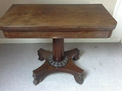 Antique Mahogany Card Table - some restoration needed
