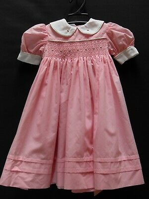 1950's Style Hand Made Smocked Girl's Dress.