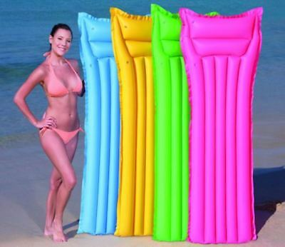 Inflatable Lilo Air Mat Bed Lounger Swimming Pool Float Beach Summer Holiday
