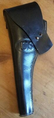 US Indian Wars Black Leather Flap Holster for 1873 Colt/Schofield break action