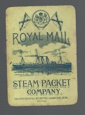 Playing  SWAP Cards 1  VINT  WIDE ROYAL MAIL STEAM  PACKET COMPANY SHIPPING  S44