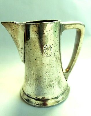 Silver Plate  Measuring Jug engraved with United American Lines detail