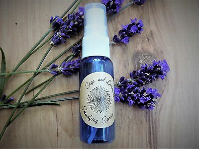 Lavender & White Sage Smudging Spray  30ml Smudge   Room Cleansing Smoke Free