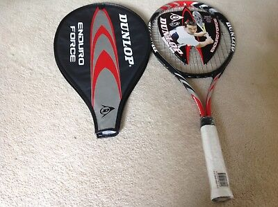 3 x DUNLOP ENDURO FORCE TENNIS RACQUETS, BRAND NEW IN WRAPPING.