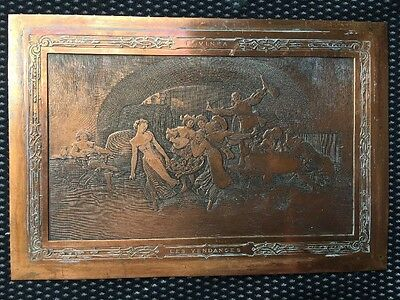 Painting Plate Copper Engraved The Vendanges F.vinea / Wine