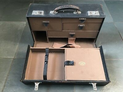Vintage Doctors Medical Veterinary Travel Case Fitted Drawers Early 20th Century