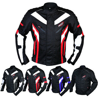 Max5 Mens Motorbike Touring Waterproof Textile Jacket CE Armour Cordura Coat