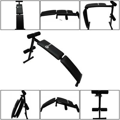BodyRip Abs Sit Up Bench Incline Home Gym Fitness Crunch Gym Equipment Black