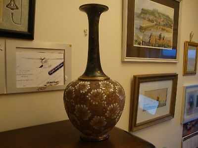 A fine Doulton Lambeth bottle vase- Slaters Patent c1890