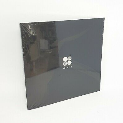 "K-POP BTS 2nd Album [WINGS] ""W Ver."" CD + 96p Photobook + Photocard Sealed"