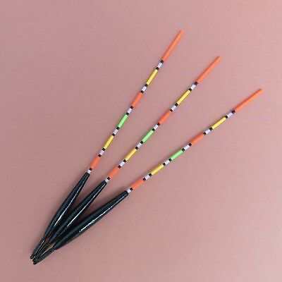 Traditional Handmade Fishing Floats. Glow Tip  'Antenna Style Wagglers'  Three.