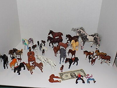 41 Toy Horses; Various Sizes; Bryer, Greenbrier,Lay Mobil,Tootsie,Exmoor,ERTL
