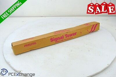 Patlite Signal Tower LE-302P-RYG AC/DC 24V 3 Tier Red Amber Green Pole Mount