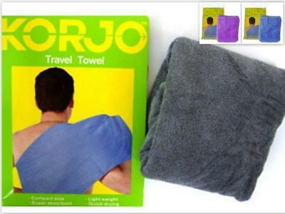 Korjo TT69 Light Weight Travel Camping Sports Gym Towel Fast Dry Compact 80x33AU