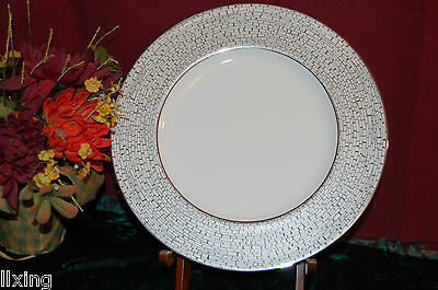 Set of 4 Lenox Kate Spade June Lane Platinum Accent plates New USA