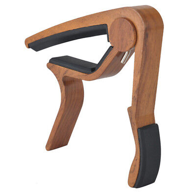 Rosewood Guitar Capo Clamp with 24pcs Plectrums for Acoustic Electric Guitar
