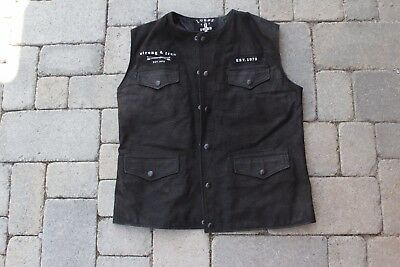 Leather Motorcycle Vest - Lords Of Gastown