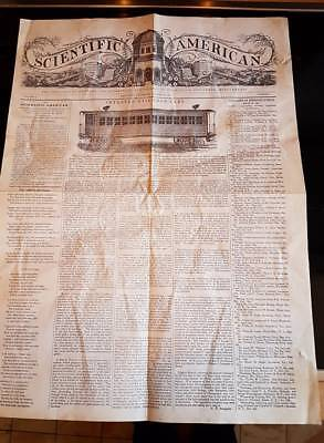 SCIENTIFIC AMERICAN Zeitung New York 28 August 1845  NUMBER 1