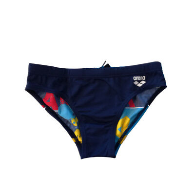 Arena - B Woodblock Jr Brief - Navy/Turquoise Size 26 (2A683-78)